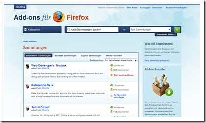 Mozilla Firefox Add-on Collections