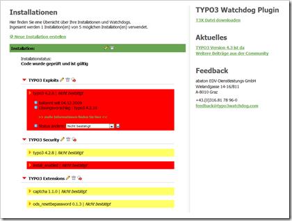 TYPO3 Watchdog