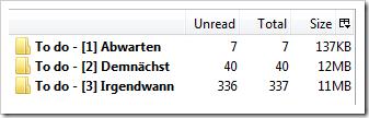 Screenshot: Extra Folder Columns