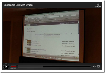 Video: Basecamp built with Drupal
