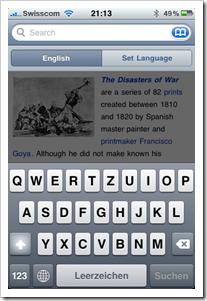 Wikipedia App für das iPhone 2.0