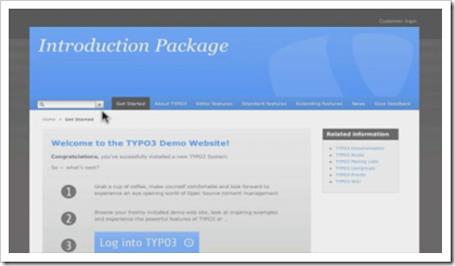 TYPO3: Das Introduction Package, die neue Demo-Website