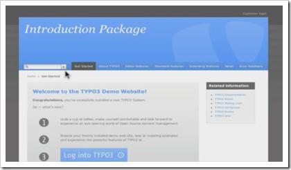 TYPO3: Das Introduction Package, die neue Demo-Website