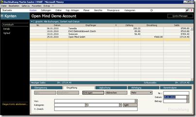 Microsoft Money99 Screenshot