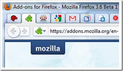 "Firefox mit Extension ""App Tabs"""
