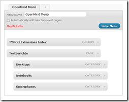 WordPress 3.0: Menü-Editor