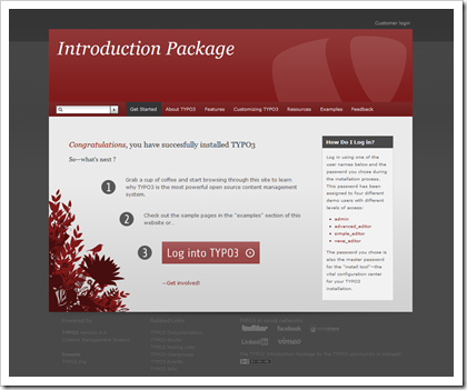 TYPO3 Version 4.4: Introduction Package