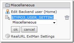 Bearbeitung eines Shortcuts im TYPO3-Backend