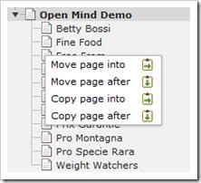 TYPO3: Seiten verschieben oder kopieren per drag-and-drop