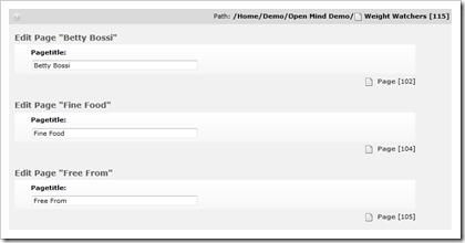 TYPO3: Seitentitel mehrerer Seiten parallel bearbeiten im List-Modul