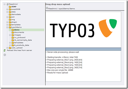 TYPO3: Drag & Drop Mass Upload mit der Extension ameos_dragndropupload