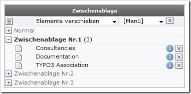 TYPO3 Zwischenablage (Clipboard)