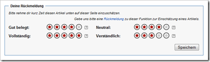 Article Feedback Tool der Wikipedia