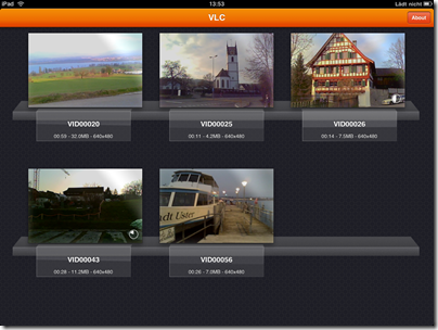 VLC Media Player für iPad: Mediathek