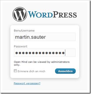 Login im WordPress Frontend