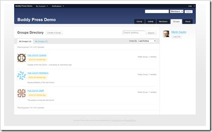 Social Network mit WordPress und BuddyPress