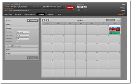 Airtime: Calendar (Sendungsplanung)