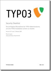 TYPO3 Security Checklist v0.9.3