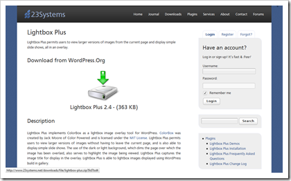 Lightbox Plus (Plug-in für WordPress)