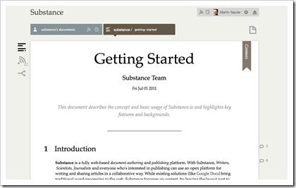 Substance - web-basiertes Verfassen und Publizieren von Texten