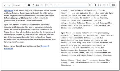 Prototyp des Visual Editors für MediaWiki