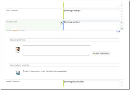 Transifex Benutzeroberfläche (Ausschnitt)