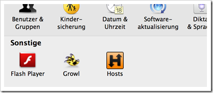 Hosts.prefpane - Icon in den Mac OS Systemeinstellungen