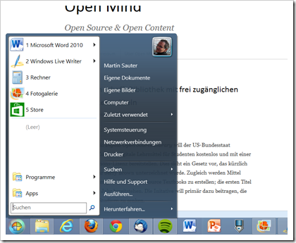 Das Classic Start Menu unter Windows 8