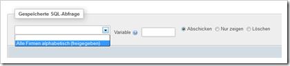 phpMySQL: Gespeicherte SQL-Abfragen ausführen