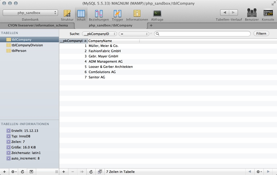 Sequel Pro: GUI für MySQL-Datenbanken unter Mac OS X