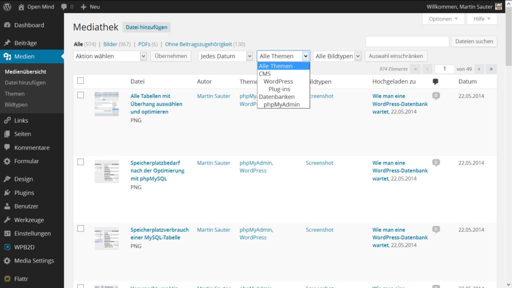 Enhanced Media Library: Erweiterte Filtermöglichkeiten in der WordPress Medienverwaltung