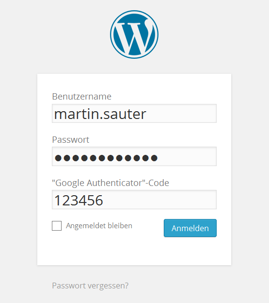 WordPress-Login mit Zwei-Faktor-Authentifizierung